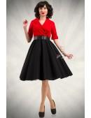 Платье в стиле Ретро с декольте и поясом (105339) - foto