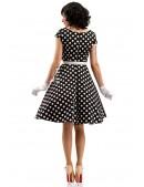 Черно-белое платье в горох с поясом X5340 (105340) - материал, 6