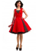 Красное платье в стиле 50х X5345 (105345) - материал, 6