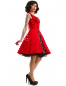 Красное платье в стиле 50х X5345 (105345) - цена, 4