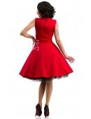Красное платье в стиле 50х X5345 (105345) - оригинальная одежда, 2