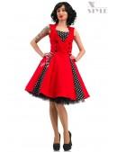 Красное платье в стиле 50х X5345 (105345) - foto