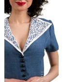 Винтажное льняное платье X5353 (105353) - цена, 4