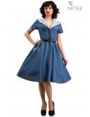 Винтажное льняное платье X5353 (105353) - foto