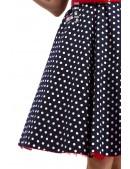 Синее ретро-платье в горошек X5354 (105354) - цена, 4