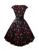 Платье Рокабилли с карманами и поясом (105356) - материал, 6