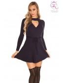Короткое вязаное платье клеш KouCla (105370) - foto