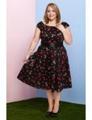 Платье Рокабилли с карманами и поясом (105356) - оригинальная одежда, 2