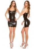 Блестящее мини-платье с поясом KouCla (127148) - цена, 4