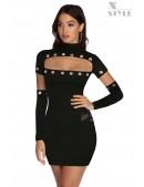 Откровенное черное платье с перчатками X7159 (127159) - foto