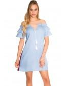 Летнее платье из голубого денима ME359 (105359) - материал, 6