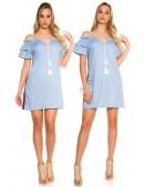 Летнее платье из голубого денима ME359 (105359) - оригинальная одежда, 2