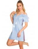 Летнее платье из голубого денима ME359 (105359) - foto
