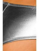 Серебристые глянцевые мини-шорты (110894) - цена, 4