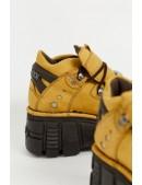 Кожаные кроссовки на платформе New Rock SAPELI (106-C74SAPELI) - цена, 4
