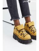 Кожаные кроссовки на платформе New Rock SAPELI (106-C74SAPELI) - foto