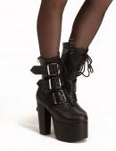 Ботинки на платформе и каблуке Demonia (310011) - foto