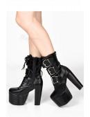 Ботинки на платформе и каблуке Demonia (310011) - цена, 4