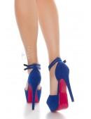 Синие туфли с открытым носком (15 см) (300010) - 3, 8