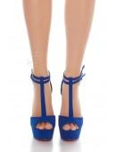 Синие туфли с открытым носком (15 см) (300010) - материал, 6