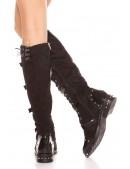 Женские замшевые сапоги с пряжками MF10044 (310044) - цена, 4