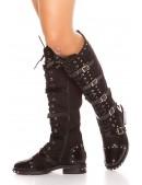 Женские замшевые сапоги с пряжками MF10044 (310044) - оригинальная одежда, 2
