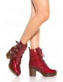 Ботинки красные женские MF46PAT (310046) - материал, 6