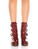 Ботинки красные женские MF46PAT (310046) - цена, 4