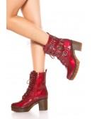 Ботинки красные женские MF46PAT (310046) - оригинальная одежда, 2