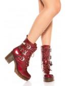 Ботинки красные женские MF46PAT (310046) - foto