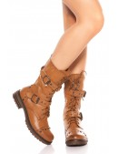 Байкерские ботинки женские MF10048 (310048) - foto