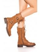 Байкерские ботинки женские MF10048 (310048) - материал, 6