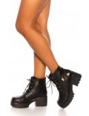 Ботинки женские на массивной подошве M10058 (310058) - 4, 10