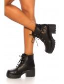 Ботинки женские на массивной подошве M10058 (310058) - материал, 6