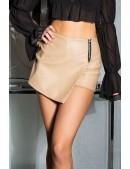 Кожаные юбка-шорты с запахом KC7004 (117004) - foto