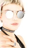 Зеркальные круглые очки Хай-тек (905071) - цена, 4