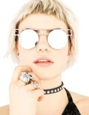 Зеркальные круглые очки Хай-тек (905071) - foto