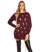 Рваный спереди свитер-платье KouCla (105371) - 3, 8