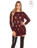 Рваный спереди свитер-платье KouCla (105371) - foto