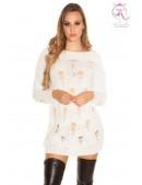 Рваное платье-свитер KC5372 (105372) - foto