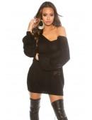 Черный свитер на одно плечо KC1217 (111217) - цена, 4
