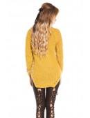 Женский свитер горчичного цвета KouCla (111221) - 4, 10