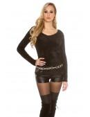 """Черный """"пушистый"""" свитерок PU8002 (111229) - цена, 4"""