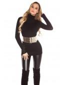 Черный свитер-туника KouCla (111231) - материал, 6