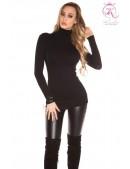 Черный свитер-туника KouCla (111231) - foto