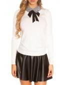 Белый свитерок с воротником MF1232 (111232) - 3, 8