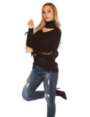 Черный джемпер KouCla с чокером (111236) - оригинальная одежда, 2