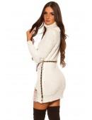 """Белое """"рваное"""" платье-свитер KC5009 (165009) - материал, 6"""