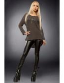 Хлопковый пуловер оверсайз X1140 (111140) - цена, 4
