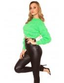 Пуловер женский MF1244 (неоновый зеленый) (111244) - материал, 6
